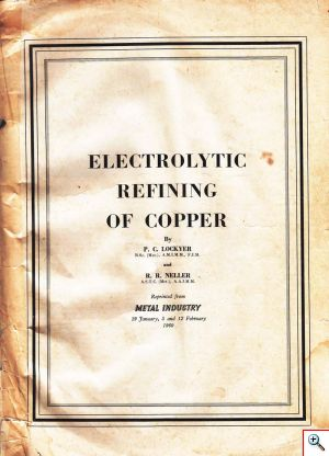 Electrolytic Refining of Copper - cover
