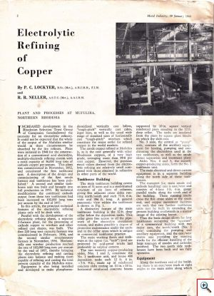 Electrolytic Refining of Copper - Page 2